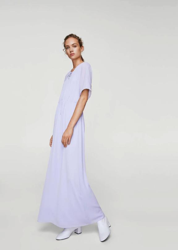 vestito donna lilla