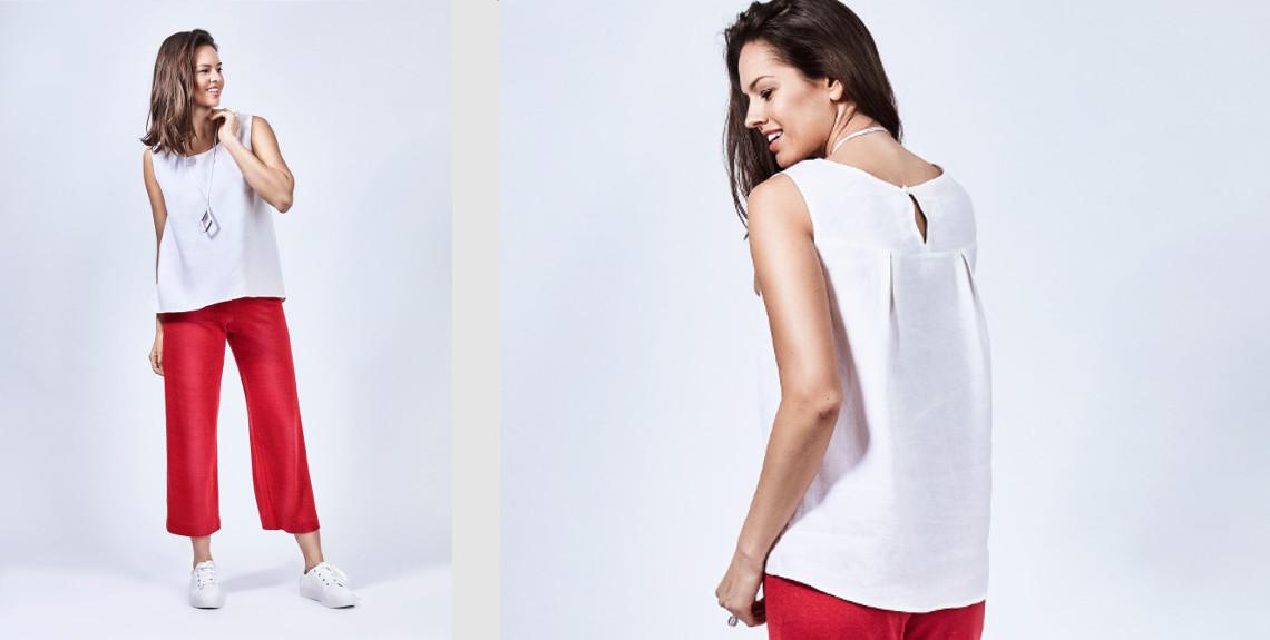 pantalone culotte rosso Tu & Tu