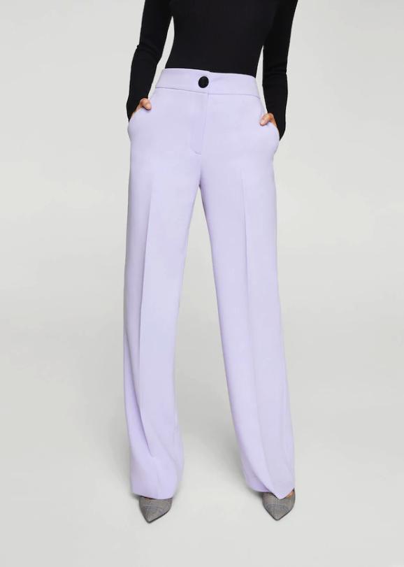 pantaloni donna lilla