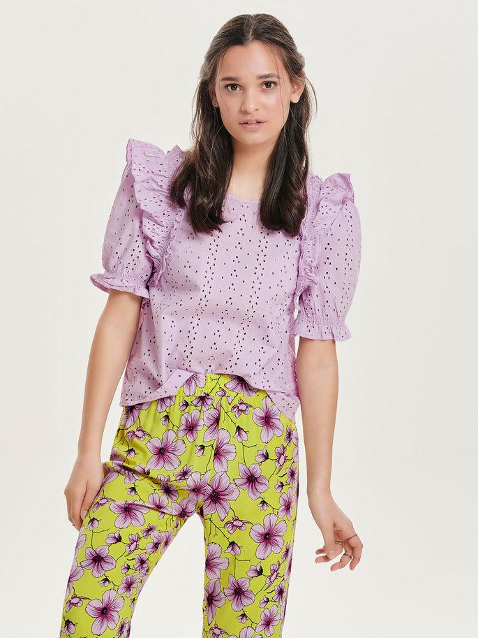 camicia donna lilla